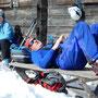 am Ausspannen bei der Guwhütte