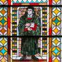 St.-Georgs-Kirche, Kirchenfenster mit Martin Luther-Darstellung
