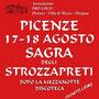 Barisciano, Fraz. Picenze, 17 e 18 Agosto Sagra degli Strozzapreti.