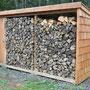das fertige Prunkstück-Holzunterstand vom Waldschrat