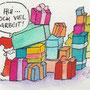 .. Doodle 358/365 - Stichwort: Geschenkestapel