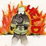 .. Doodle 124/365 - Stichwort: Feuerwehrmann