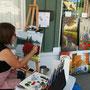 Toile à vendre : Suzanne Blais peint un magnifique paysage floral
