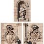 Antiguo HOSPITAL DE TAVERA. En la hornacina la figura de San Juan Bautista. Dos escudos: el de la izquierda del Cardenal Tavera, a la derecha de la casa de Medinaceli.