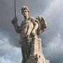 PUERTA DE BISAGRA. El ángel con la espada en la mano figura el guardián de la ciudad. 1562.