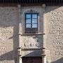 """PALACIO DE LOS SEÑORES DE HIGARES, """"CASA GUENA"""". Fines del siglo XIV. Plaza de Santa Isabel."""
