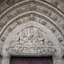 CATEDRAL. PUERTA DEL JUICIO FINAL. Visión gótica del Juicio Final en el tímpano de la portada del mismo nombre.