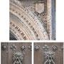 CATEDRAL. PUERTA DEL MOLLETE. Detalle en el alfíz y los aldabones de la puerta.