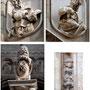 CATEDRAL. PUERTA DE LOS LEONES. Los altorrelieves son obra de Mariano Salvatierra. Los leones son genoveses. Y el pequeño mono ?