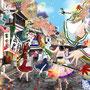 2012 1月制作 東方神霊廟「物部様の通り道」表紙 物部布都中心集合絵。PIXIVデイリーランキング入り