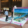 3-D Floor- and Wall painting :  Hong-Kong for Zurich meets Hong-Kong