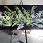 SuperSonic: Vektor Illustration, Print auf Leinwand, 104 cm x 260 cm