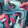 Spray can on wood, 120 cm x 220 cm. For Openair Frauenfeld
