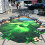 3-D Floorpainting:  Für Volvic Ice Tea, Luzern