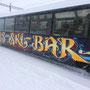 Wagon Gestaltung, Spraycan auf Stahl;-), für Skiarena Andermatt - Sedrun.