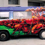 Gestaltung Camping Bus, Spraydose auf Stahl