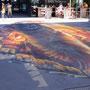 3-D Floorpainting:  Für 3D Cinema Festival. Sihlcity Zürich, wrong side...;-)