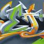 REDL Letterconstruction, Spraydose und Acryl auf Leinwand, 210 cm x 60 cm