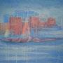 "ART HFrei - ""Stadt am Meer"" - Pastell - 2008"