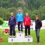 Siegerehrung 400 m M55 mit Sieger Josef Mikula