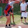 Harald beim Kugelstoß - 11,34 m - toll - nach 7 Jahren WK-Pause
