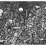 """""""Allegorie eines Todes"""" von Frenzy O. - 2013, Tusche auf Papier, 30 x 20"""