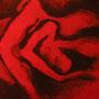"""Serie Rouge """"Commun"""" von L`Hédonie - 2012, Acryl auf Leinen, 40 x 30 cm"""