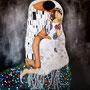 """""""Der Fick"""" von WHY - 2013, Acryl und Silber auf Leinen, 100 x 100"""