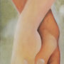 """""""Innig"""" von Magenta - 2014, Acryl auf Leinen, 30 x 80"""
