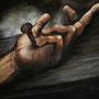 """""""Died for you"""" von WHY - 2013, Acryl und Blut auf Leinen, 120 x 100"""