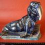Морж. Гжельский керамический комбинат. Автор И.Ефимов, Н - 21 см. L - 24 см. 1950-е гг.