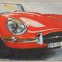 Jaguar E Type von Edgar 80x60 Acryl auf Malplatte 2011