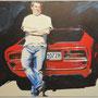 Martin mit Monti 120x100 Acryl auf Leinwand 2012