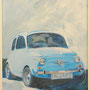 Fiat 500 von Domenico 60x80 Acryl auf Malplatte 2011