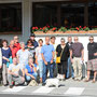 Zum Abschied ein Gruppenfoto vor dem Hotel