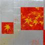 「紅葉圖 ... イエローの余白」/10号M(53.0×33.3cm)/油彩画、銀箔、金箔