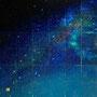 「Star Diagrm ... The Emerald Blank」/12号S(60.6×60.6cm)/油彩、金箔、銀箔、プラチナ箔、アルミ箔、黒箔、キャンバス、パネル