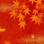 「紅葉圖 ... イエローとオレンジの余白」/8号M(27.3×45.5cm)/油彩、金箔、キャンバス、パネル
