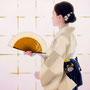 「余白の創造 ... 君と凛」/20号M(50.0×72.7cm)/油彩、金箔、キャンバス、パネル