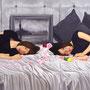 第88回白日会展(2012)/「命の色…君と君の黄昏と余白.」/120号M(194.0×97.0cm)/油彩、布(キャラコ)、パネル