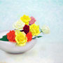 「余白の創造 ... 白妙磁と色彩」 10号F(53.0×45.5cm) 油彩画
