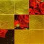 「薔薇圖 ... レッドの余白」/8号M(45.5×27.3cm)/油彩画、金箔