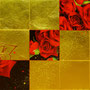 「薔薇圖 ... レッドの余白」/8号M(45.5×27.3cm)/油彩、金箔、キャンバス、パネル