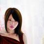 「余白にある ... 光と君」 4号F(24.2×33.3cm) 油彩画