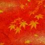 「紅葉圖 ... イエローとオレンジの余白」/6号F(31.8×41.0cm)/油彩画、金箔