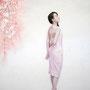 白日会創立九十周年記念展(2014)/「余白の創造 ... 桜舞う時、君はなにを想う」/100号F(130.3×162.0cm) 油彩、キャンバス