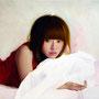 「余白にある ... 秋麗と君」 10号M(53.0×33.3cm) 油彩画