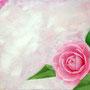 「余白の創造 ... 乙女椿と・・・」 6号M(41.0×24.2cm) 油彩画