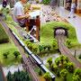 Blick auf den Schattenbahnhof und der zweigleisigen Überführung/ Einfädlung vom Schattenbahnhof in die Hauptbahn