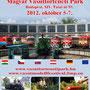 "Ausstellungsflayer ""Tomofeszt"" 2012 im Bahnpark Budapest"